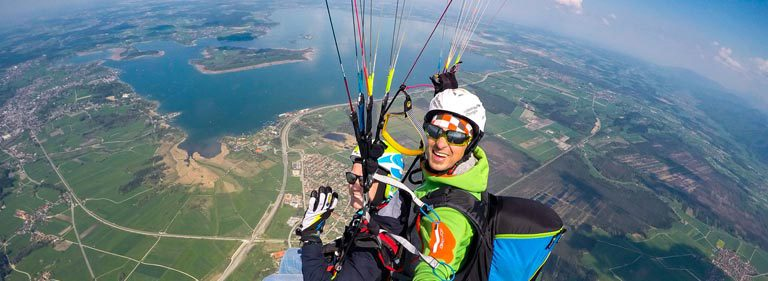 Tandemflug Panorama Thermik SPEZIAL 360Grad Paragliding Gleitschirmflug
