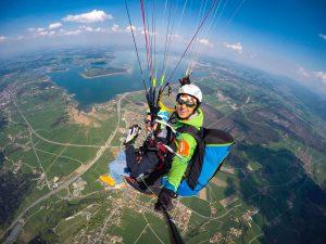 Chiemsee Paragliding Tandemfliegen Chiemgau von obern erleben