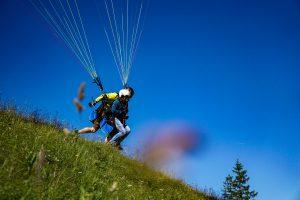 Paragliding Tandemflug Chiemgau Start