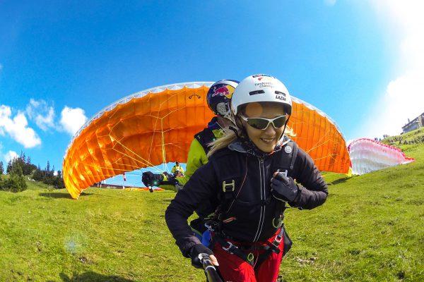 Startlauf Paragliding für den Tandemflug