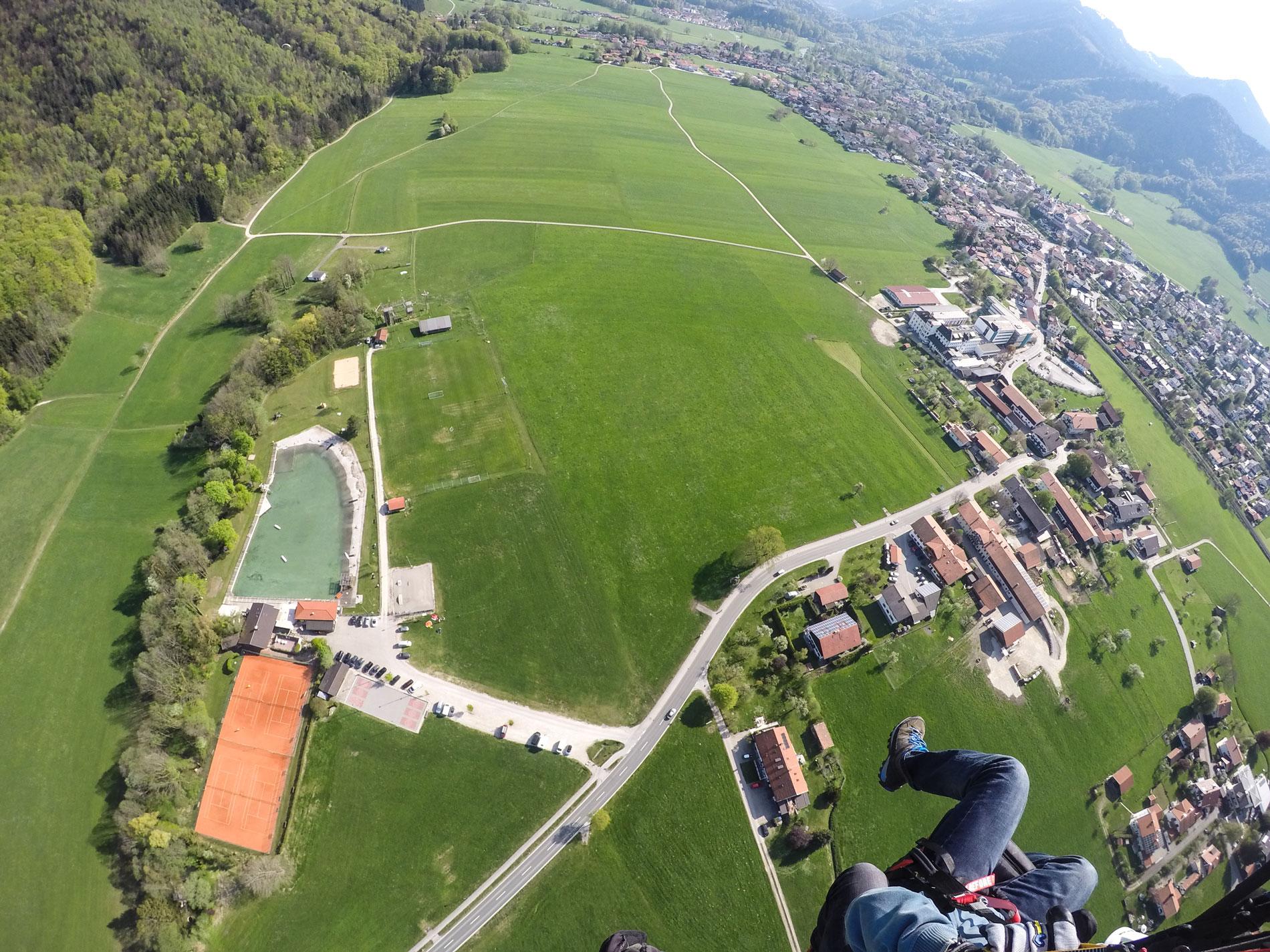 Landeplatz Aschau Tandemfliegen Chiemgau
