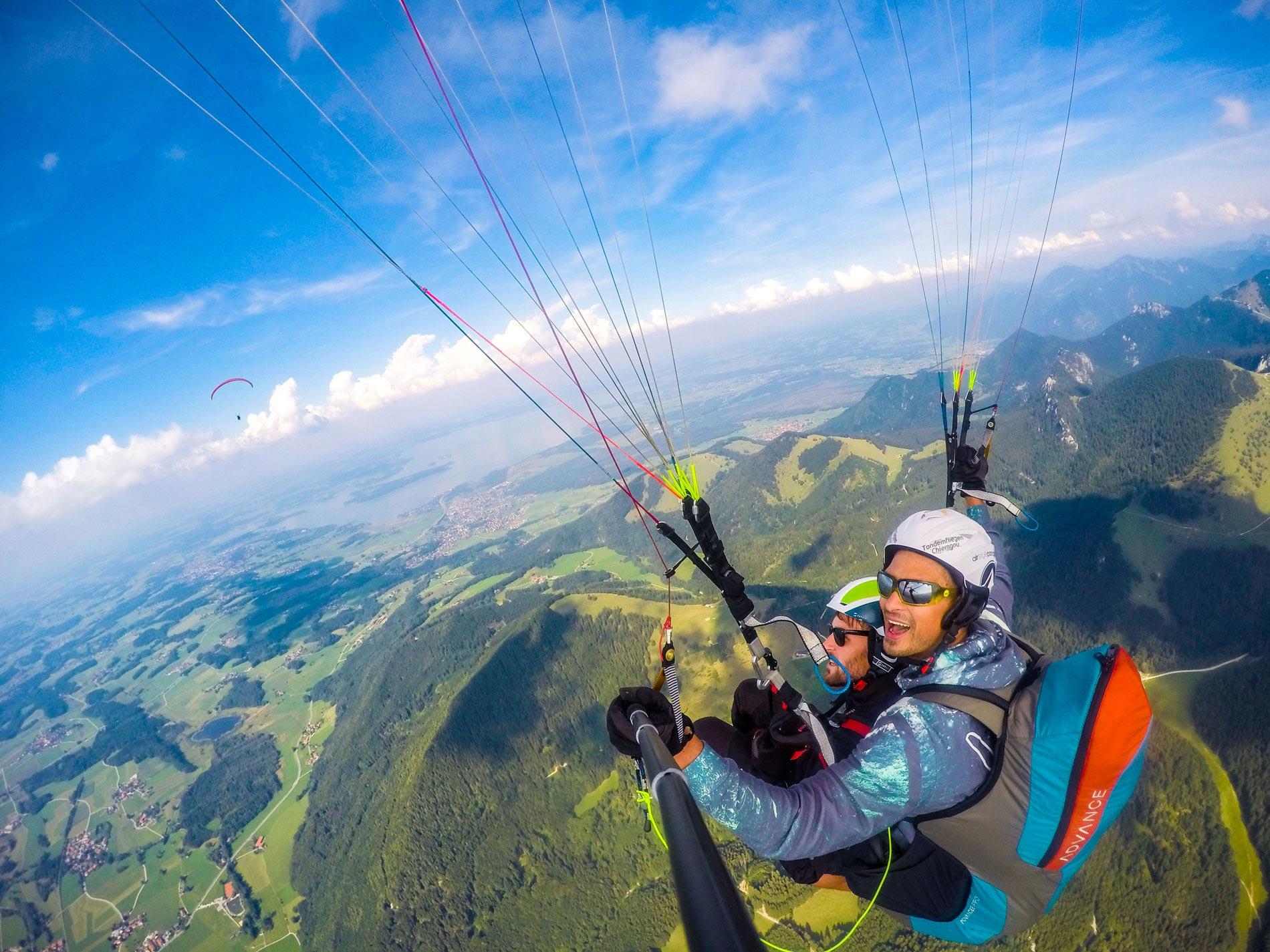 Paragliding-Spezial-360Grad-Tandemflug-Gutschein-Tandemfliegen-Chiemgau-Erlebnis