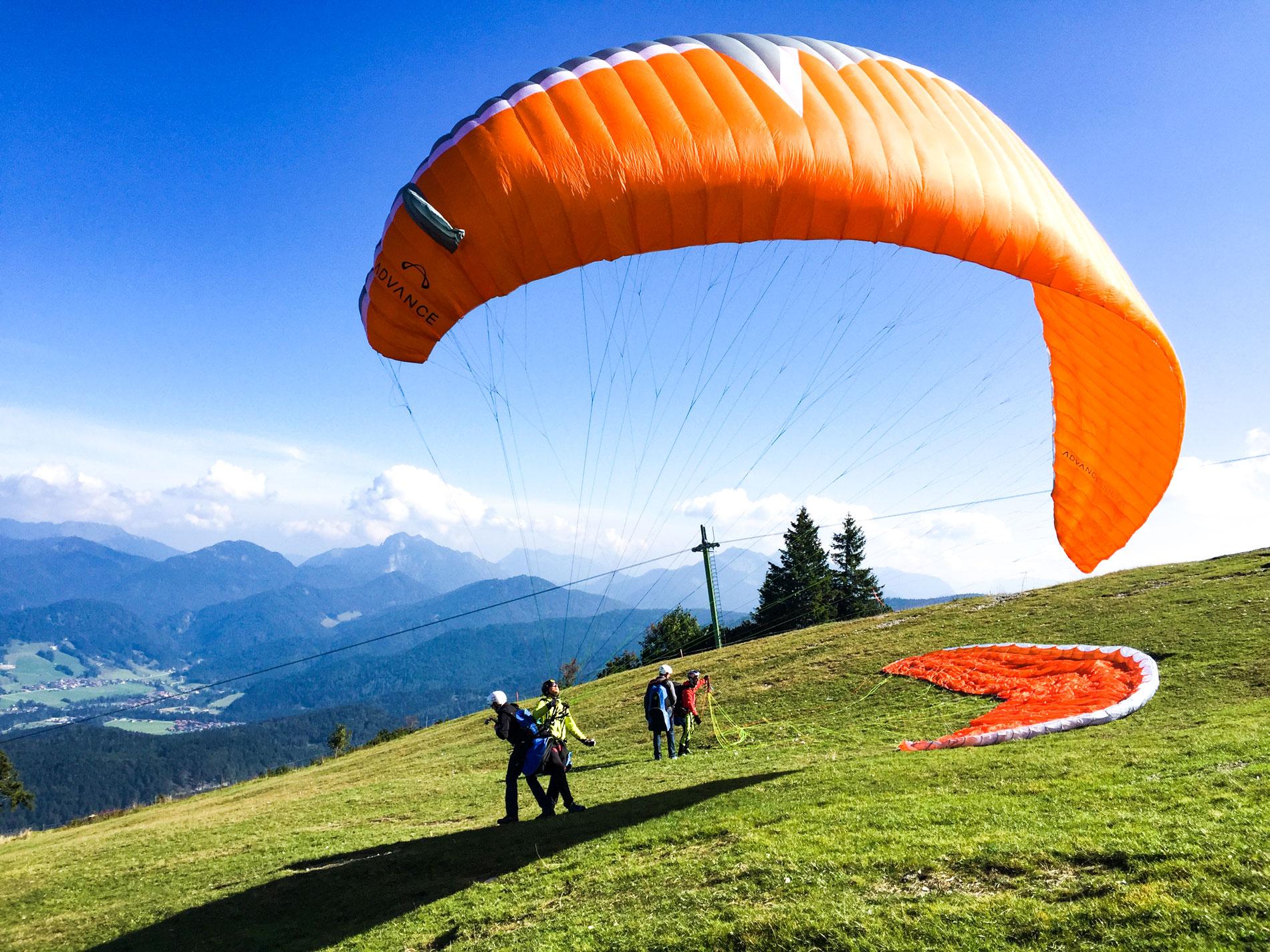 Partner-Doppelflug-Tandemflug-Geschenkgidee-Chiemgau-Kampenwand