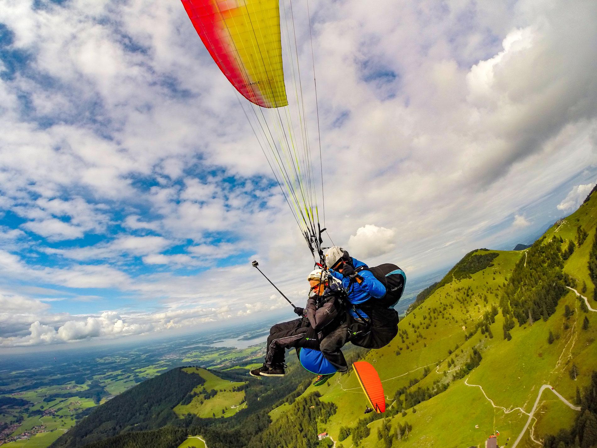 Tandemfliegen-Chiemgau-Klassiker-Tandemflug-Gutschein-Fotoservice