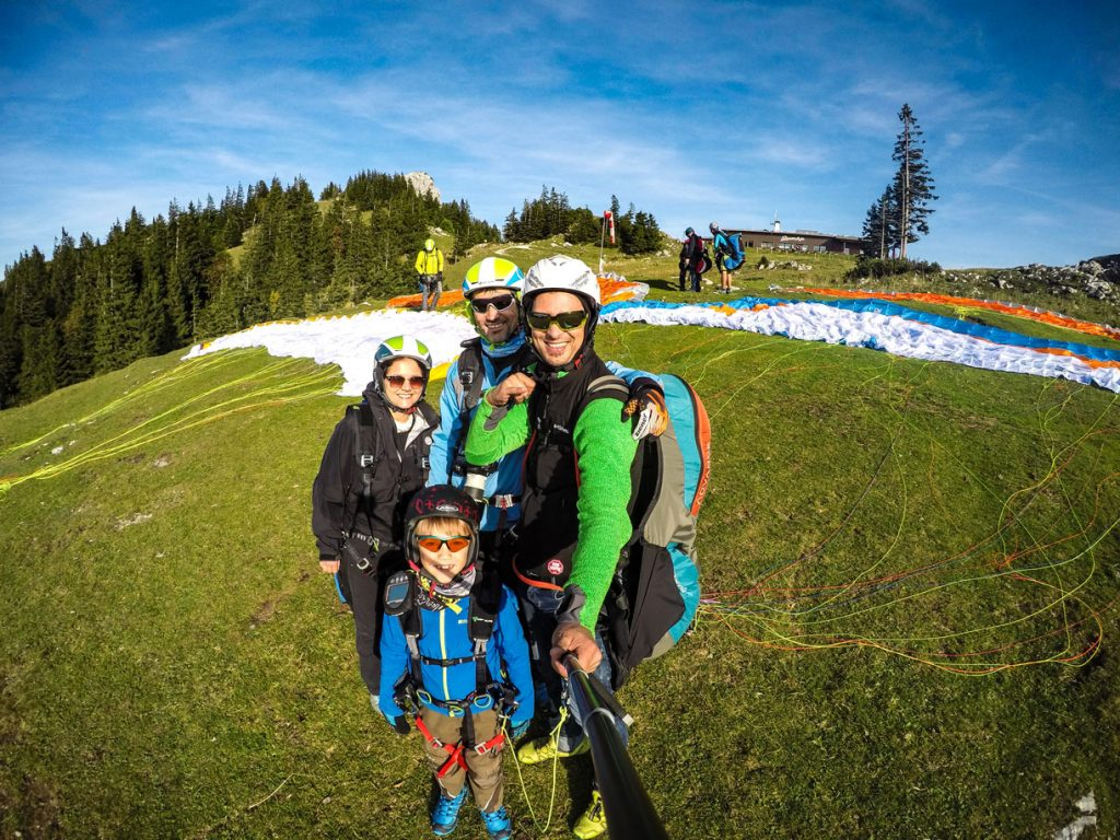 Familien_Gruppenevent_Paragliding_Tandemflug_Chiemgau